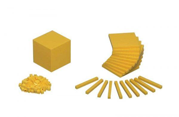7098 Bloques aritméticos decimales de plástico